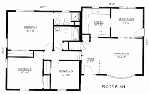 Split Level House Plans Home Designs-Split Level floor plans